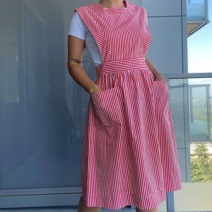 Vintage Candy Cane Casual Dress